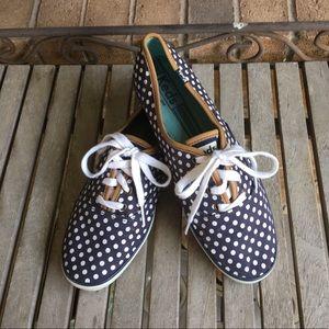 Keds Navy & White Polka Dot Sneakers